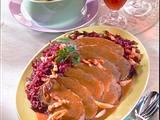 Sauerbraten mit Rotkohl und Kartoffelknödel Rezept