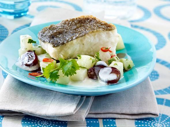 Sauerbraten vom Kabeljau mit Vanille-Kohlrabi Rezept