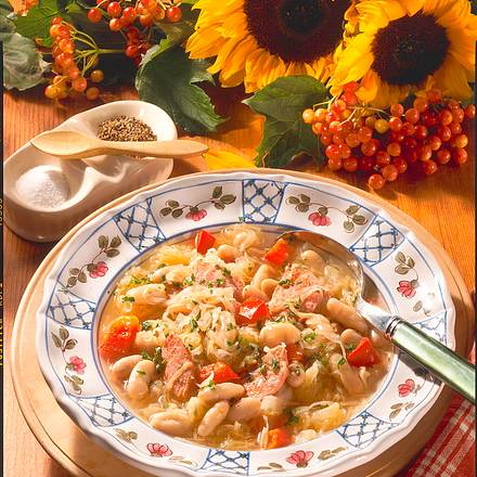 Sauerkraut-Bohnen-Eintopf Rezept