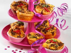 Scharfe Hack-Käse-Muffins Rezept