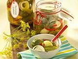 Scharfe polnische Gurken Rezept