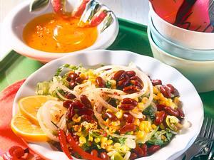 Scharfer Bohnen-Mais-Salat Rezept