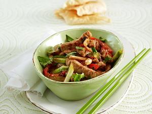 Scharfes Ingwer-Fleisch aus dem Wok Rezept