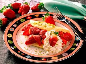 Schaumomelette mit Erdbeeren Rezept