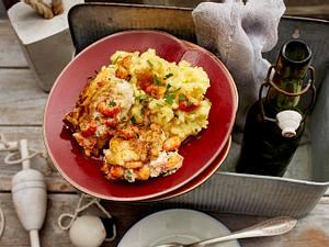 Schellfischfilet mit Knoblauch-Kartoffelpüree Rezept