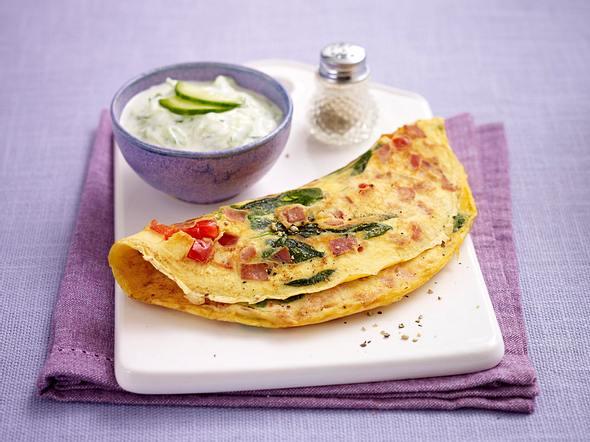 Schinken-Gemüse-Omelett (Trennkost - Eiweiß) Rezept