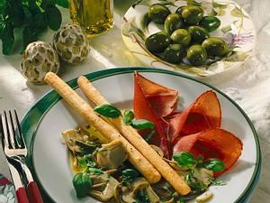 Schinken in Oliven- Vinaigrette Rezept