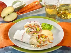 Schinken-Wrap mit Gemüse Rezept