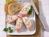Schinkenröllchen mit Sauerkrautfüllung und Meerrettichcreme Rezept