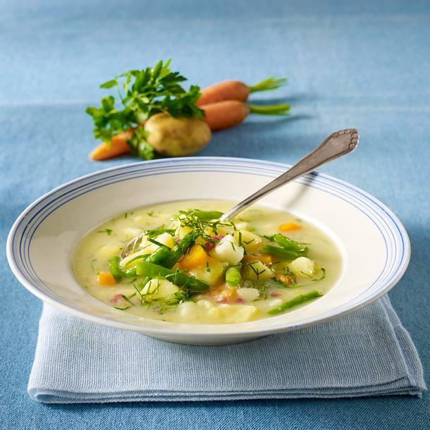 Schlank-Suppe: Kartoffelsuppe mit Schinken Rezept