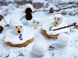 Schmelzende Schneemann-Cookies Rezept