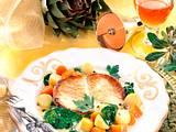 Schmetterlings-Steak auf Gemüse Rezept