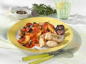 Schmorgurken-Gemüse zu Schnitzelröllchen Rezept