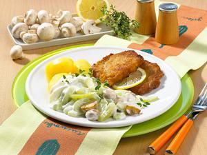 Schmorgurkengemüse mit Schnitzel Rezept