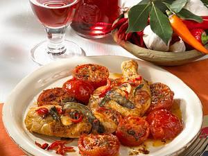 Schmortomaten zu Chili-Hähnchen Rezept