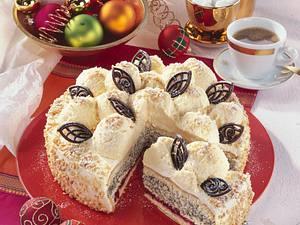 Schneeball-Torte mit Marzipan-Mousse Rezept