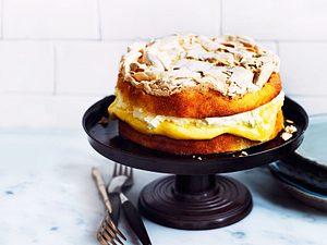Schneemousse-Torte mit Lemoncurd-Pudding Rezept