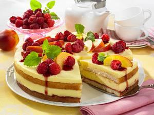 Schnelle Obst-Pudding-Torte Rezept