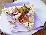 Schnelle Pizza mit Austernpilzen & Ziegenkäse Rezept