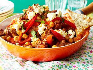 Schnelles Chili Con Carne mit Kichererbsen und Feta Rezept