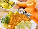 Schnitzel mit Corn-Flakes-Panade Rezept