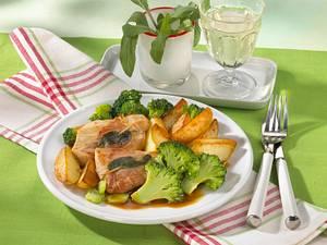 Schnitzel mit Schinken und Salbei (Diabetiker) Rezept