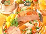 Schnitzelbraten mit buntem Gemüse Rezept