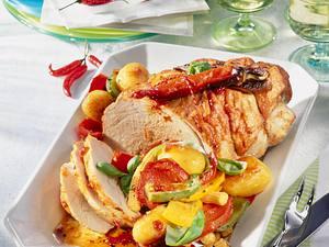 Schnitzelbraten mit Paprikagemüse Rezept
