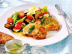 Schnitzelchen mit Balsamicogemüse-Salat Rezept