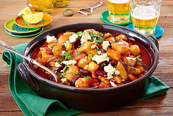 Schnitzelchili mit Feta Rezept