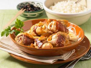 Schnitzelröllchen in Sherry-Rahm Rezept