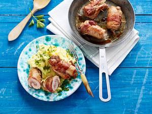 Schnitzelröllchen mit Kräuter-Kartoffelpüree Rezept