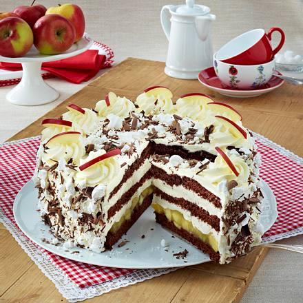 Schoko-Apfel-Torte Rezept