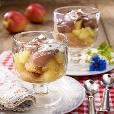 Schoko-Apfel-Trifle Rezept