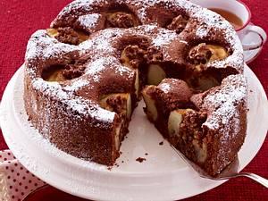 Schoko-Bratapfelkuchen Rezept