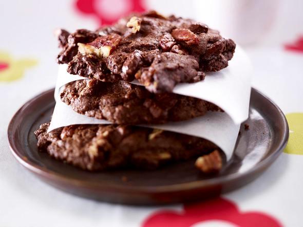 Schoko-Cookies mit Pekannüssen Rezept