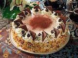Schoko-Kirsch-Vanille-Torte Rezept