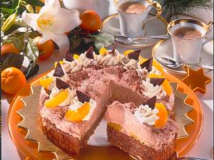Schoko-Mint-Torte mit Clementinen Rezept