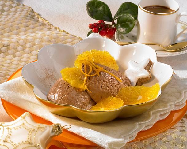 Schoko-Mousse mit Orangen Rezept