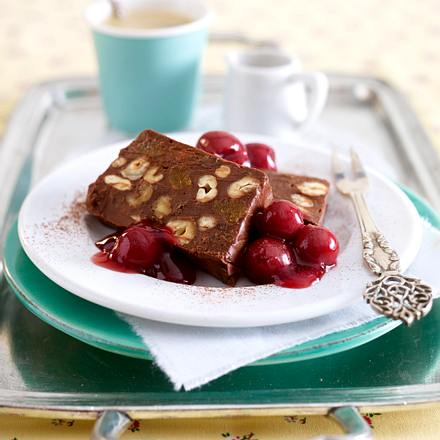 Schoko-Nuss-Pastete mit Vanillekirschen Rezept