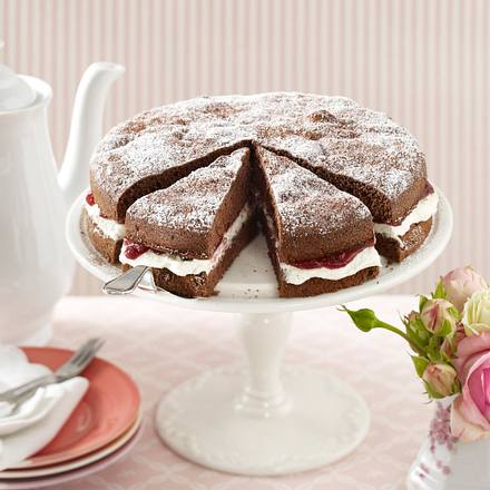 Schoko-Preiselbeer-Torte Rezept