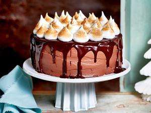 Schoko-Torte mit Baisertupfen Rezept