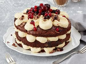 Schokoladen-Beeren-Kuchen Rezept