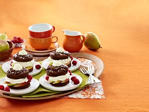 Schokoladen-Birnen-Küchlein Rezept