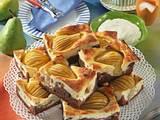 Schokoladen-Birnen-Quarkkuchen Rezept
