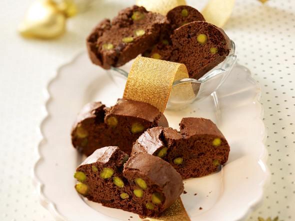 Schokoladen-Cantuccini mit Pistazien Rezept