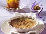 Schokoladen Crème Brulée mit Gewürzorangen Rezept