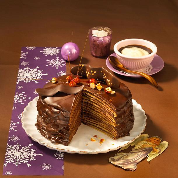 Schokoladen-Crêpe-Turm Rezept