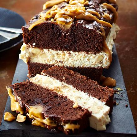 Schokoladen-Erdnuss-Kuchen Rezept