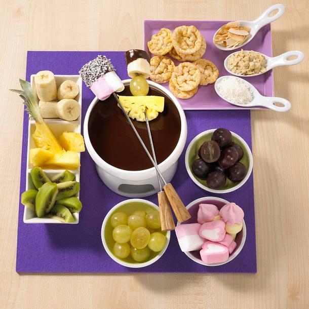 schokoladen fondue rezept lecker. Black Bedroom Furniture Sets. Home Design Ideas